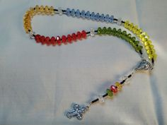 New Strung  Multi Coloured Rosary by LoveandReloved on Etsy