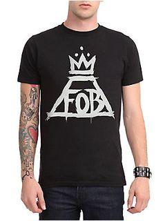 <p>Fall Out Boy T-shirt with a crown logo.</p>  <ul> <li>100% cotton</li> <li>Wash cold; dry low</li> <li>Imported</li> <li>Listed in men's sizes</li> </ul>