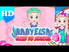 ♥ Frozen Elsa Games Elsa Frozen Goes To School Elsa Frozen Game Episode ♥