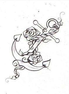 Ankare, roses tattoo