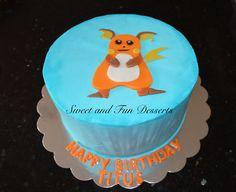 Pokemon raichu cake