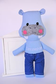 hippo, toy, for boy, for kid, dollmaker, doll, stuffed toy, kinder, cloth toy, kidsroom, animal #boskawioska All rights reserved