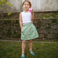 Girl's Potato Chip Skirt - Downloadable PDF sewing patterns for baby, children, girls and boys by Tie Dye Diva