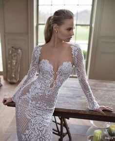 See Berta Bridal's Gorgeous Fall 2016 Wedding Dresses 2016 Wedding Dresses, Wedding Suits, Wedding Gowns, Wedding Blog, Lace Wedding, Backless Wedding, Wedding Hair, Bridal Hair, Bridal Musings