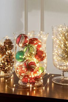 Weihnachten dekoration – The holiday countdown is ticking away at rapid speed. This time of year can defi… – Ideen Dekorieren Noel Christmas, Christmas Projects, All Things Christmas, Winter Christmas, Holiday Crafts, Holiday Ideas, Rustic Christmas, Christmas Lights In Jars, Office Christmas