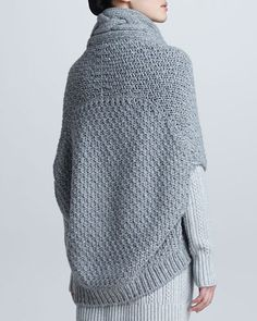 Loro Piana Cable-knit cashmere cape shrug
