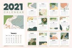 Monthly Planner Printable, Printable Calendar Template, Kids Calendar, 2021 Calendar, Kalender Design, Design Plano, Up Book, Journal Stickers, Personal Planners
