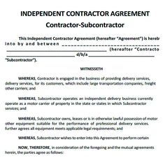 Subcontractor agreement free pdf 11 subcontractor for Subcontractors agreement template