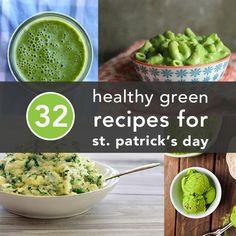 32 Healthy Green Recipes to Celebrate St. Patrick's Day via@Greatist #HealthyRecipes #HealthyHolidays