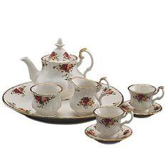 Royal Albert Old Country Roses Le Petite 9-Piece Tea Set