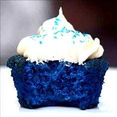 "Amazing ""Sexy"" Blue Velvet Cupcakes – A Bite Of Pleasure #bluecupcakes #cupcakerecipe #recipe #desserts #sweets"