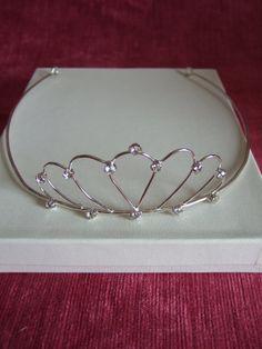 Silver & Clear Crystal Tiara, Headdress, Bridal Tiara, Wedding Tiara, Bridesmaid Tiara, Maid of Honour, Adult Tiara, Birthday Tiara