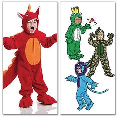 Dinosaur Costume Pattern for Toddlers & Children from McCall's