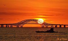 A beautiful sunrise view from the Babylon Village Dock (Credit: Flo Siemsen) Long Island Ny, Best Places To Live, Beautiful Sunrise, Sydney Harbour Bridge, Sunrises, Cover Photos, Coast, York, Travel