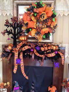 Happy Halloween Mantel.