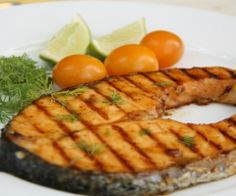 Simply Grilled Salmon. Simple to make using #WORLDFOODS Thai Sweet Chili with Kaffir Lime Sauce