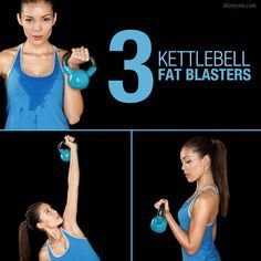 Kettlebells are great for a good fat burn!  #kettlebell #workout