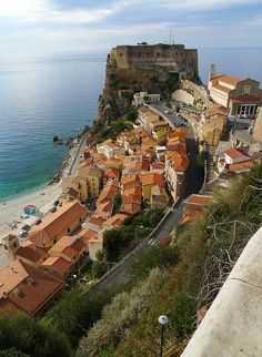 Picturesque town of Scilla in Calabria, Italy
