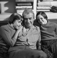 Jimmy Stewart and twin daughters