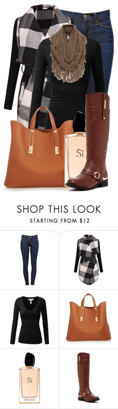 """Untitled #712"" by autumnbeauty ❤ liked on Polyvore featuring Frame Denim, J.TOMSON, Sophie Hulme, Giorgio Armani, Bucco and Exclusive for Intermix"