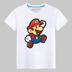 Super Mario Run Brothers Mario cute Printed Men's T-Shirt T Shirt For Men 2016 New Short Sleeve O Neck Cotton Casual Top Tee