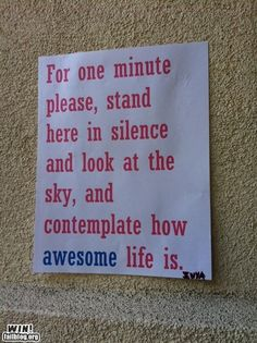 life is awesome!