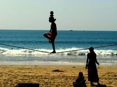 ok, I am in love.  Slacklining IN Goa, India.  This is probably all I need in life.