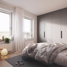 I love the gray neutral casual bedroom decor and modern style. Bedroom Decor On A Budget, White Bedroom Furniture, Home Decor Bedroom, Bedroom Décor, Bedroom Ideas, Bedroom Inspiration, Casual Bedroom, Trendy Bedroom, Bedroom Designs