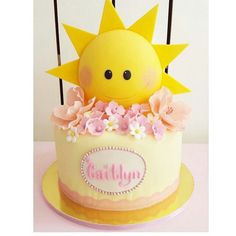 Sun birthday cake