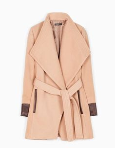 Belted coat with lapel - Kabátky Belted Coat, Coats For Women, Duster Coat, Celebs, Jackets, Clothes, Treats, Fashion, Winter Coats