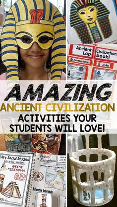 Ancient Civilization Activities Your Students Will Love! Ancient Civilization ideas lessons projects and activities that students love! The post Ancient Civilization Activities Your Students Will Love! appeared first on School Ideas. 6th Grade Social Studies, Social Studies Classroom, Social Studies Activities, History Activities, History Classroom, Teaching Social Studies, History Teachers, Teaching History, History Education