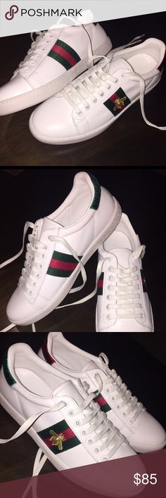 🐝New Bee- embroided fashion Gucci luxury Sneakers 🎩 TRENDY AMIGO STORE 👟 •Free shipping in US  •All of our shoes run true on the size😌 🌎 www.TrendyAmigoStore.com 💸 Get $10 off when you subscribe to the website's newsletter and purchase with promo code: tas10 Gucci Shoes Athletic Shoes