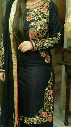 Security Check Required - WhatsApp: Bringing luxury Indian fashion at your fingertips Specialize in HAND EMBROI - Punjabi Suits Designer Boutique, Boutique Suits, Indian Designer Suits, Embroidery Suits Punjabi, Embroidery Suits Design, Indian Dresses, Indian Outfits, Eid Outfits, Pakistani Dresses