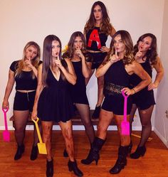 14 Girl Gang Halloween Costumes for 2017 - Karneval/Halloween - Carnaval Cute Group Halloween Costumes, Cute Costumes, Halloween Outfits, Girl Costumes, Costume Ideas, Halloween Halloween, Sorority Halloween Costumes, Pretty Little Liars Costumes, Friend Costumes
