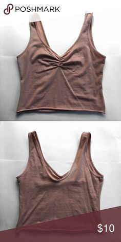 Pink cami crop top Super cute pink crop top with roughing on the bust. Very fc2a2fa27