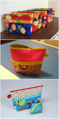 Learn how to sew the PERFECT ZIPPER bags.  Step by step video walks you through how to sew 3 different zipper projects so you'll soon be sewing zippers like a pro!