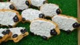 Bara brith is a traditional Welsh cake laced with gentle spices and dried fruit. The flavours are lovely in these cute biscuits - quite similar to Shrewsbury biscuits.  Equipment: for this recipe you will need a pestle and mortar and a sheep-shaped biscuit cutter.