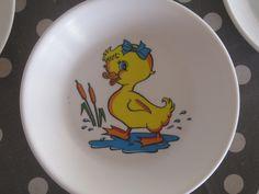 assiette en melamine canard