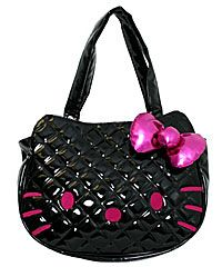 72bf963c05 Flower Girl Dresses - Black Quilted Hello Kitty Face Purse Style SANTB0210  (4 pieces available