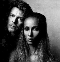 Iman and David Bowie, both beautiful