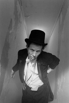 """Tom Waits - devil's huckster, rumble'n'clanker, ringmaster extraordinaire. Demiurgic lyricist and endlessly quotable - """"Oh, I'm not a percussionist, I just like to hit things."""", """"I hate Disneyland. It primes our kids for Las Vegas."""", """"I like beautiful melodies telling me terrible things."""", """"A gentleman is someone who can play the accordion, but doesn't."""""""