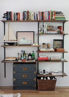 How To: Make a Modern-Industrial DIY Mounted Shelving Unit » Curbly | DIY Design Community