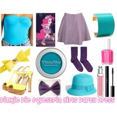 Pinkie Pie (Equestria Girls Party Dress) - Polyvore