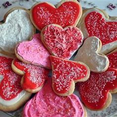 Valentine cookies @ allrecipes.co.uk