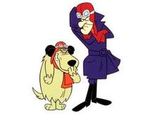 Dastardly & Muttley in Their Flying Machines is a cartoon produced by Hanna-Barbera Productions for CBS. Originally the series was broadcast as a Saturday morning cartoon, airing 1969-70. The show focuses on the efforts of Dick Dastardly & his canine sidekick Muttley to catch Yankee Doodle Pigeon, a carrier pigeon who carries secret messages. The cartoon was a combination of Red Baron-era Snoopy, Wacky Races, & the film Those Magnificent Men in Their Flying Machines.