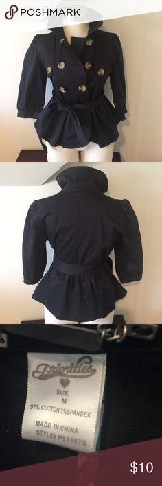 Short Peplum 3/4 Sleeve Raincoat Short Peplum 3/4 Sleeve Raincoat - size medium - cute and fun! Excellent condition Jackets & Coats