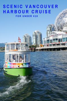 Planning a trip to Vancouver? Be sure to ride the Aquabus or False Creek Ferries! Water taxis that will get you to places like Science World, Granville Island, Yaletown and more. Granville Island Vancouver, Vancouver Travel, Vancouver Island, North Vancouver, Victoria British Columbia, Vancouver British Columbia, Canadian Travel, Canadian Rockies, Aqua