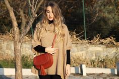 NYAM's Style: CAMEL PONCHO IN A HOT SUNDAY!