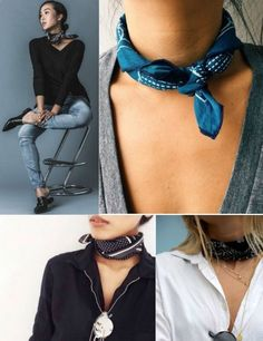 How To Wear Bandana, Ways To Wear A Scarf, How To Wear Scarves, Bandana Styles, Scarf Styles, Casual Outfits, Fashion Outfits, Womens Fashion, Fashion Tips