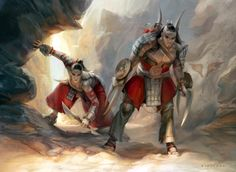 Canyon Lurkers, an art print by Cynthia Sheppard - INPRNT
